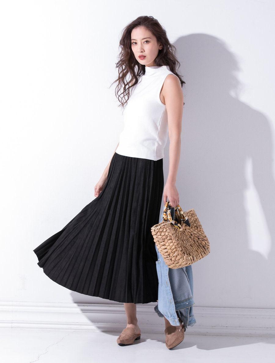 プリーツロングマキシスカート
